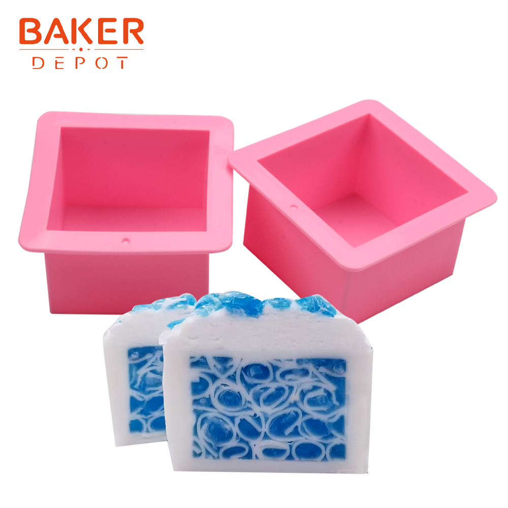 <font><b>BAKER</b></font> <font><b>DEPOT</b></font> square toast mold Silicone handmade soap mould 500ml cake bread pastry bakeware cake decoration tool image