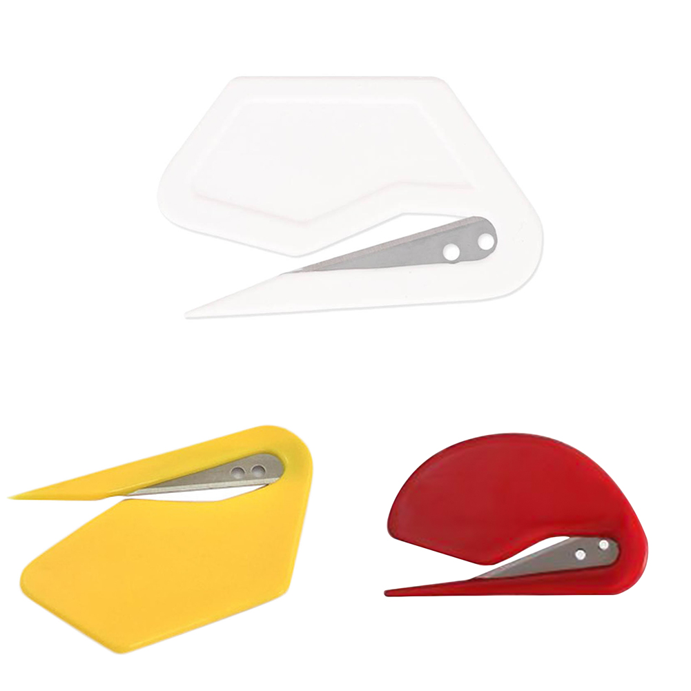 Mini Efficient Plastic Letter Knife Letter Mail Envelope Opener Safety Paper Guarded Cutter Blade School Office Supplies