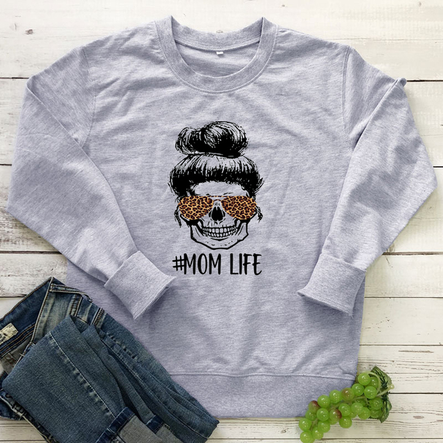 Colored Leopard Mom Life Sweatshirt Fashion Women Long Sleeve Motherhood Pullovers Funny Mother's Day Gift Sweatshirts Femme 5