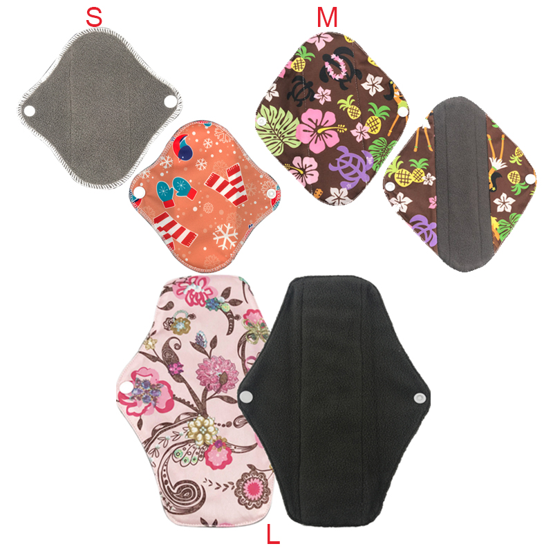 1-2pcs Reusable Cotton Menstrual Pad Cloth Pads Washable Sanitary Napkins Reusable Cotton Menstrual Pants Reusable Panty Liners