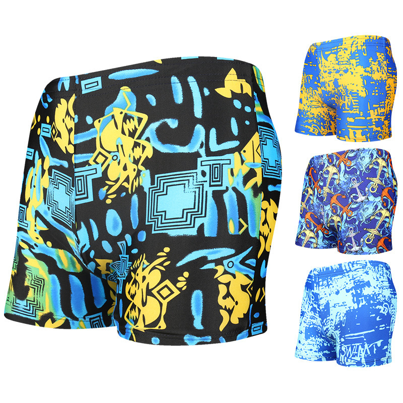 Adult Men's Swimming Trunks Loose-Fit Hot Springs Beach Shorts Men's High Elastic-Anti-Awkward Swimwear Yk20137