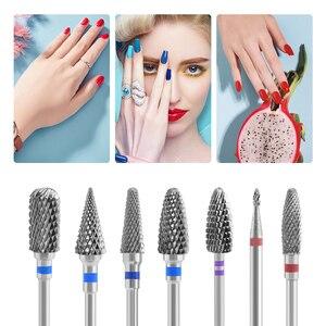 Image 2 - Fresas de carburo de tungsteno para manicura, accesorios Nail Art, fresas, cortaúñas