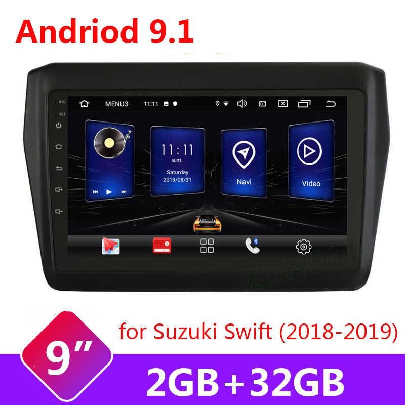 "2 Din Auto Radio Multimedia Dvd Speler 9 ""Android 9.1 Gps Voor Suzuki Swift 2017 2018 2019 Navigatie Stereo autoradio Video Wifi"