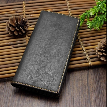 Vintage Genuine Leather Men Wallets Long Clutch bag High Quality Card Holder Male Coin Purse Large Capacity Brand Wallet For Men genuine cow leather men wallets rfid double zipper card holder high quality male wallets purse vintage coin holder men wallets