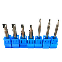 Diamond cnc milling cutter acrylic sheet PCD stone machine tools Carbide Shank lathe end for milling PVC graphite Marble