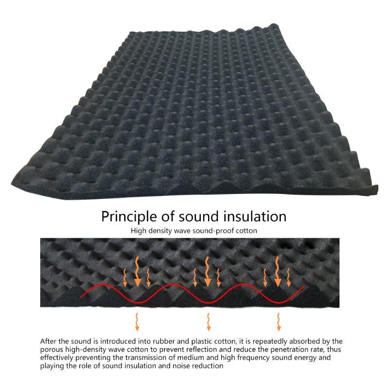 100x50cm araba ses Deadener Mat ses yalıtımı akustik sönümleme köpük Subwoofer Mat