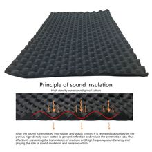100x50cm Car Sound Deadener Mat Noise Insulation Acoustic Dampening Foam Subwoofer Mat