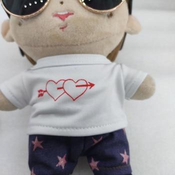 20cm exo doll clothes doll T-shirt plush toy pants sweater shirt doll T-shirt love doll coat doll accessories aifei doll