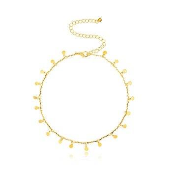 Moda oro y plata Color collar de gargantilla con monedas para las...