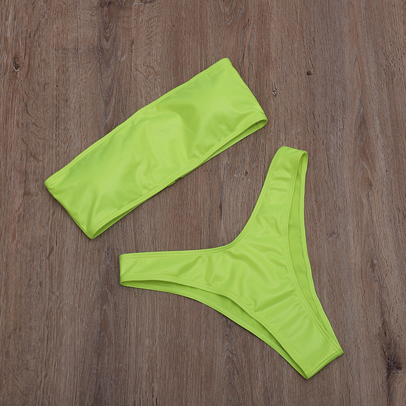 High Leg Bandeau bikini set 15