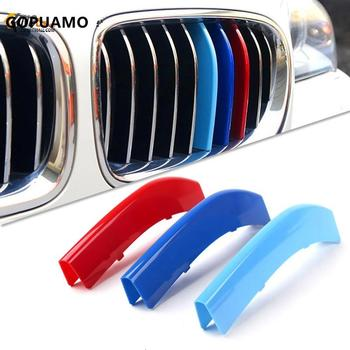 3 Colors Strips Clip Bars Quality ABS Portable Fixing Car Styling Grille Decoration Decal for BMW E60 E90 F10 F18 F30 F35 image