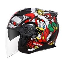 Yema 637s moto rcycle capacete das mulheres dos homens quatro estações meia capacetes moto m l xl 2xl anti nebulização capacete moto cruz
