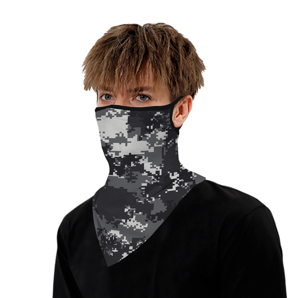 H0774997294234ffc95eb4549db9798283 Outdoor Camouflage Print Seamless Ear Face Cover Sports Washable Scarf Neck Tube Face Dust Riding Facemask Windproof Bandana