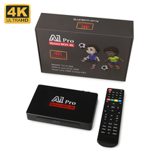 A1 Pro Android 9 0 TV pudełko 4K procesor Amlogic S905D H 265 HEVC DVB-C DVB-T2 Tuner telewizji cyfrowej DVB T2 Combo DVB-S2 z dostępem do kanałów satelitarnych odbiornik TV tanie tanio SATXTREM 100 M Amlogic S905D Quad Core 8 GB eMMC HDMI 2 0 Penta-Core ARM Mali-450 Android TV 1G DDR3 0 55kg 2x USB 2 0 HDR10