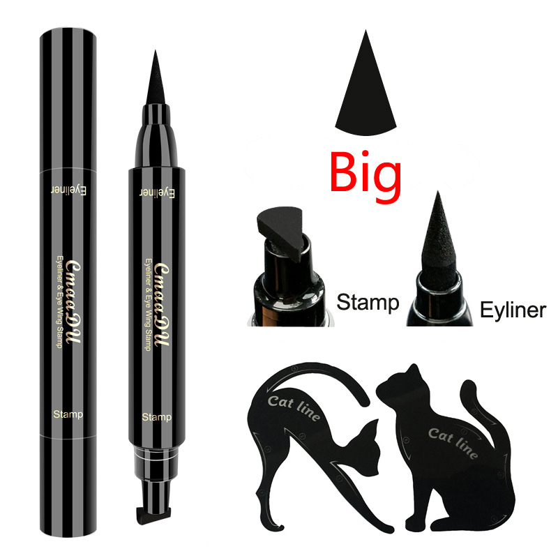 Eyeliner Pencil Black Double Head Liquid Wing Eye Liner Pencil Super Waterproof Quick Dry Eyeliner Stamps Cosmetic Makeup Tools