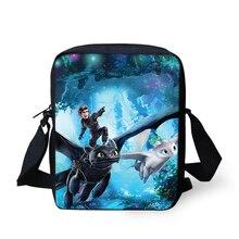 Женские сумки Как приручить дракона шаблону девушки креста тела сумка мультфильм дизайн аниме девушки мини-щитки кошелек сумки