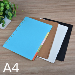 planner dividers, journal dividers A5 A6 A7 B5 A4, black kraft white index separator paper dashboard