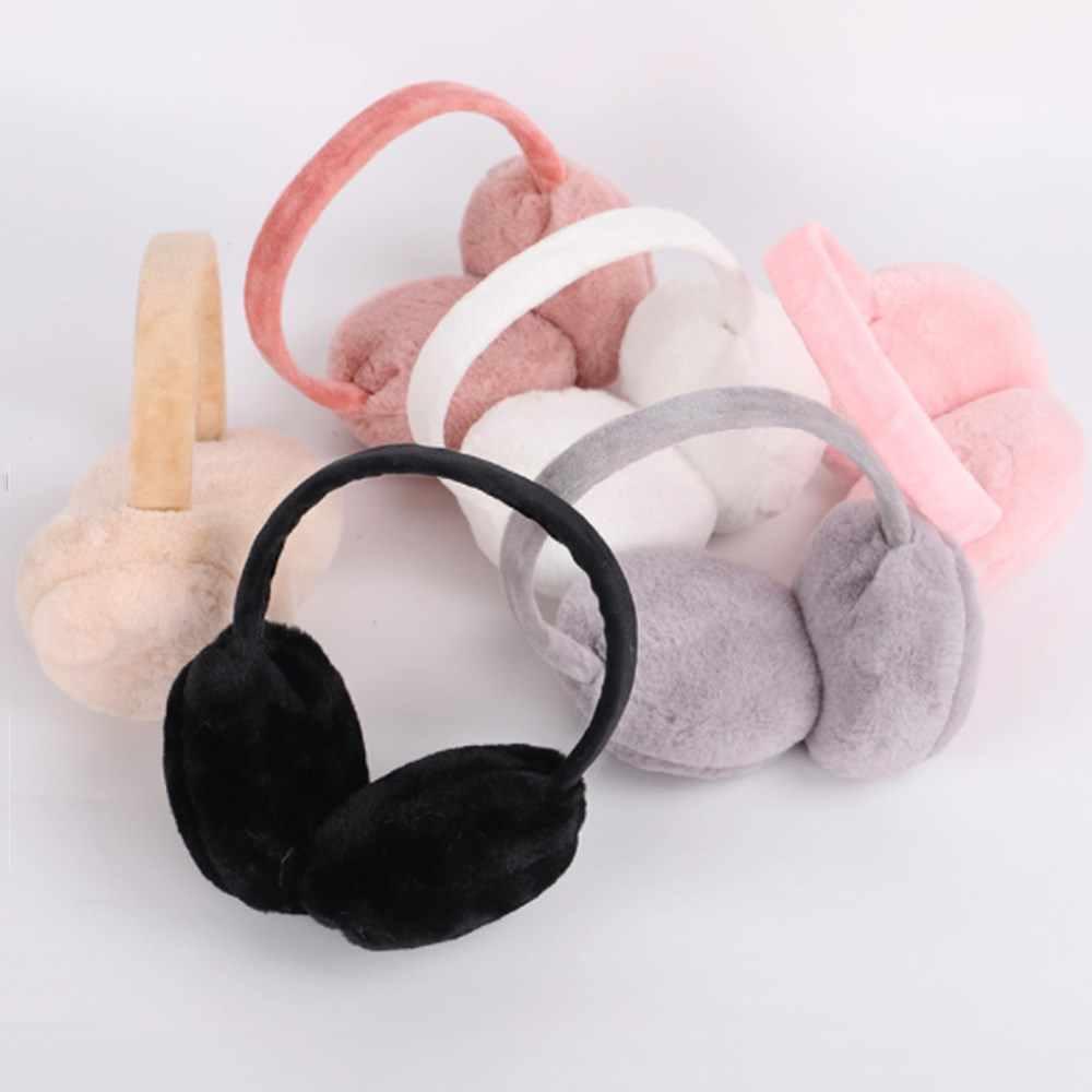 מתנות לתינוק בנות בציר קטיפה מחממי אוזני מוצק רך חם אוזניות אוזן-בני כובע החורף חיצוני אוזן מופס עבור ילדים