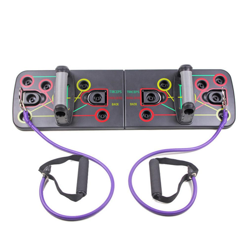 Fitness Exercise Tool 1 Set Push Up Rack Board 9 in 1 Body Building Board System Comprehensive Training Gym Body Training Drop