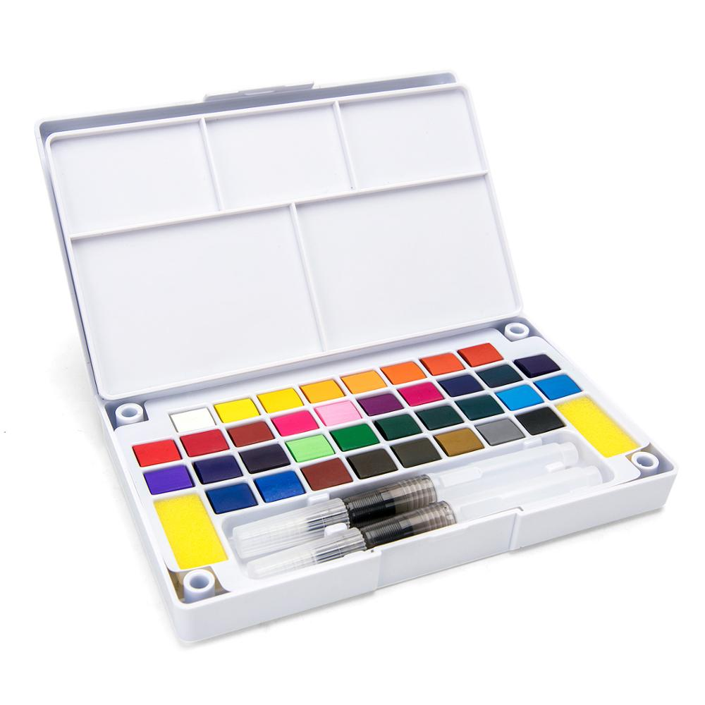 12/18/24/36Color Transparen Watercolor For Kids Painting Drawing Solid Watercolor Art Paint Supplies