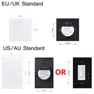 Image 2 - Светодиодный настенный сенсорный светильник MiniTiger, Европейский/американский/Британский/австралийский стандарт, 1/2/3 банды, 1 стороннее Хрустальное стекло, без Wi Fi