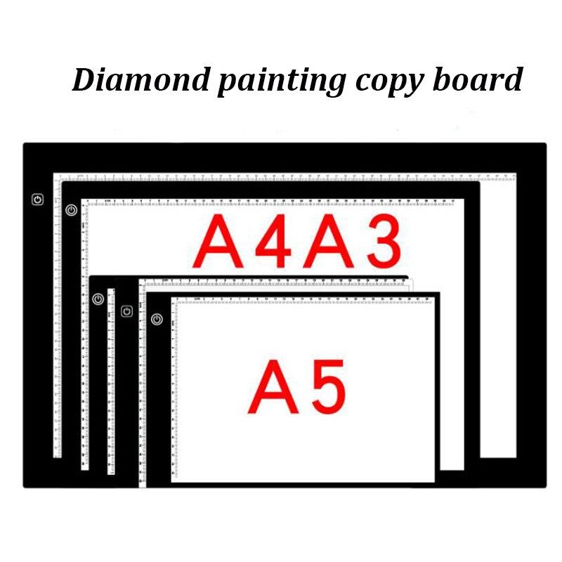 LED diamant peinture A4/A5 Lightpad tablette ultra-mince 3.5mm Pad appliquer à l'ue/UK/AU/US/USB Plug broderie la casa de papel série