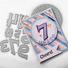 Naifumodo Numbers Dies Letters Metal Cutting Frame for DIY Scrapbooking Card Album Embossing Crafts Die Cut New