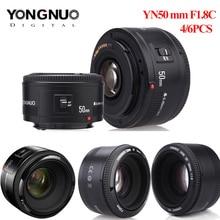 4 قطعة/6 قطعة YONGNUO عدسة YN50mm f1.8 YN EF 50 مللي متر YN50 فتحة AF عدسات لكاميرات كانون EOS 60D 70D 5D2 5D3 600d كاميرا دروبشيبينغ