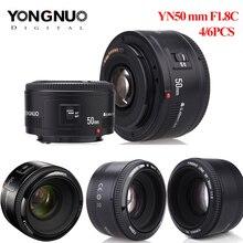 4pcs/6pcs YONGNUO עדשת YN50mm f1.8 YN EF 50mm YN50 צמצם AF עדשה עבור Canon EOS 60D 70D 5D2 5D3 600d מצלמה Dropshipping