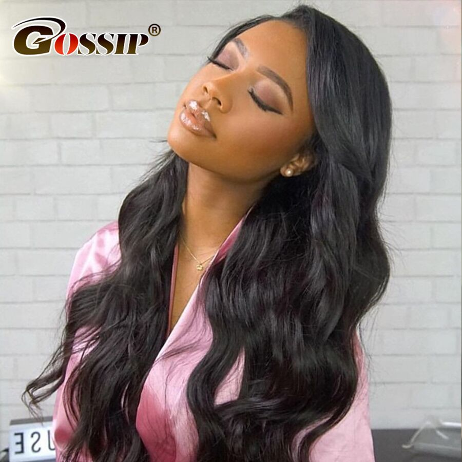 13x4 Lace Front Wig Gossip Hair Remy Wigs For Black Women Indian Lace Front Human Hair Wigs Body Wave Pre Plucked Wig
