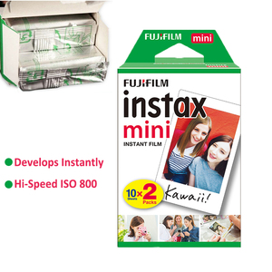Image 4 - Fujifilm Instax Mini 9 Film Instant Kamera Trauben Rosa Schwarz + 20 Blätter Mini 8 Weiß Filme + Abdeckung + album + 10Pcs DIY Kits