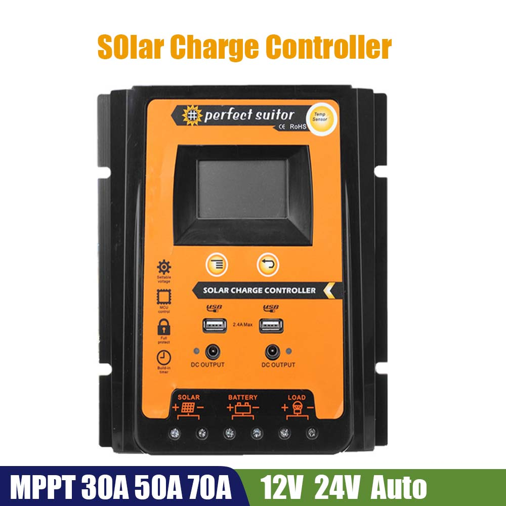 MPT-7210A Solar Charge Controller Back-light MPPT Battery Charger Regulat IW