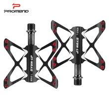 Promend antiderrapante pedais mtb rolamento pedais de bicicleta de montanha para liga de alumínio ultraleve ciclismo pedais acessórios da bicicleta