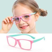 Детский анти-синий светильник, очки, блокирующие лучи, компьютерные очки, Брендовые очки для мальчиков и девочек