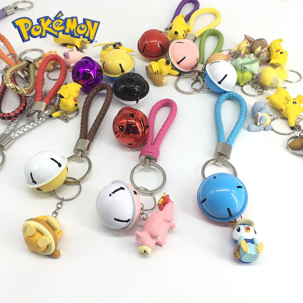 DIY Pokemon Keychain Pikachu Action Figure Pokemon Elf Series Children Toy Christmas Gifts 4