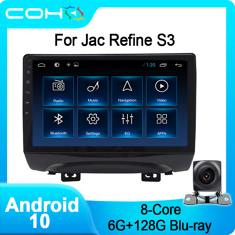 COHO For Jac Refine S3 Android 10.0 Octa Core 6+128G Car Multimedia Player Stereo Radio image