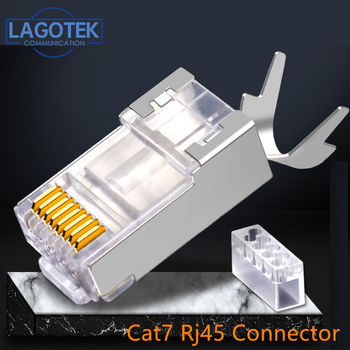 50PCS Network Cable Connector Cat6a Cat7 shielded FTP 8P8C Crimp