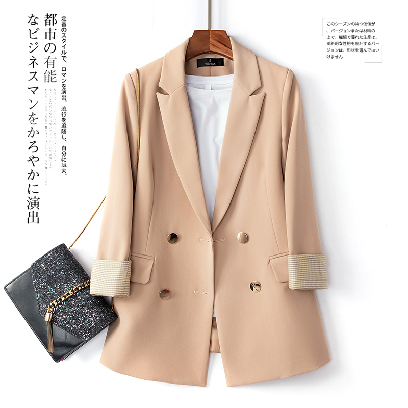 Large Size Retro Women Blazer Simple Loose Solid Pink Suit Jacket Long Sleeve Casual Blazer Branco Korean Women Jacket MM60NXZ