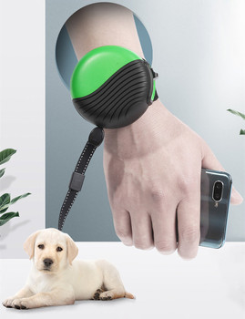 The new wrist type pet watch leash 3 meters automatic retractable dog leash medium and large dogs nylon walking dog walking the dog
