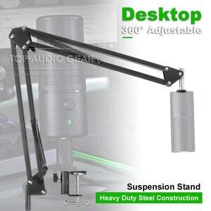 Desktop Suspension Scissor Mic Boom Arm For Razer Seiren X Elite Microphone Stand Table Desk Top Recording Holder Mount Clamp(China)