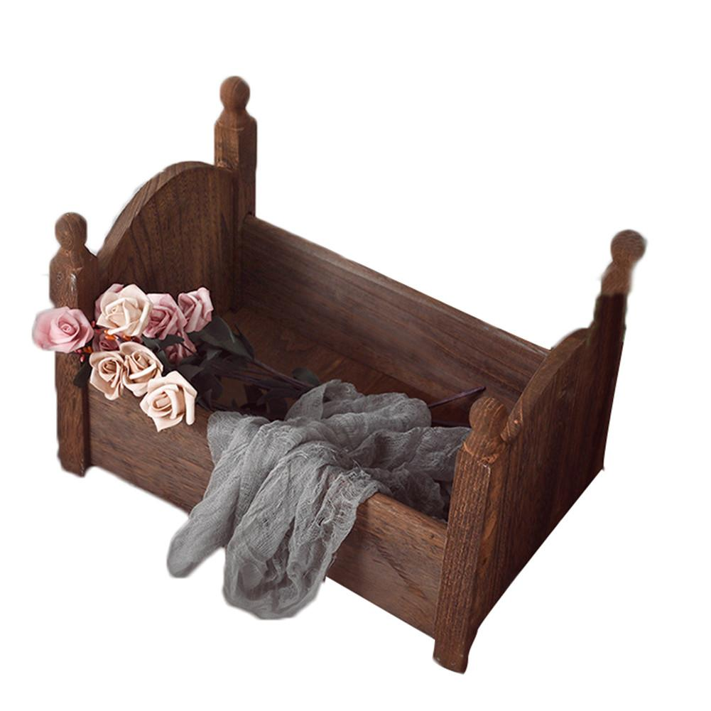 High Quality Safety Wood Baby Small Photography Bed Photo Studio Photography Props Newborn Small Wooden Crib For Baby Boys Girls