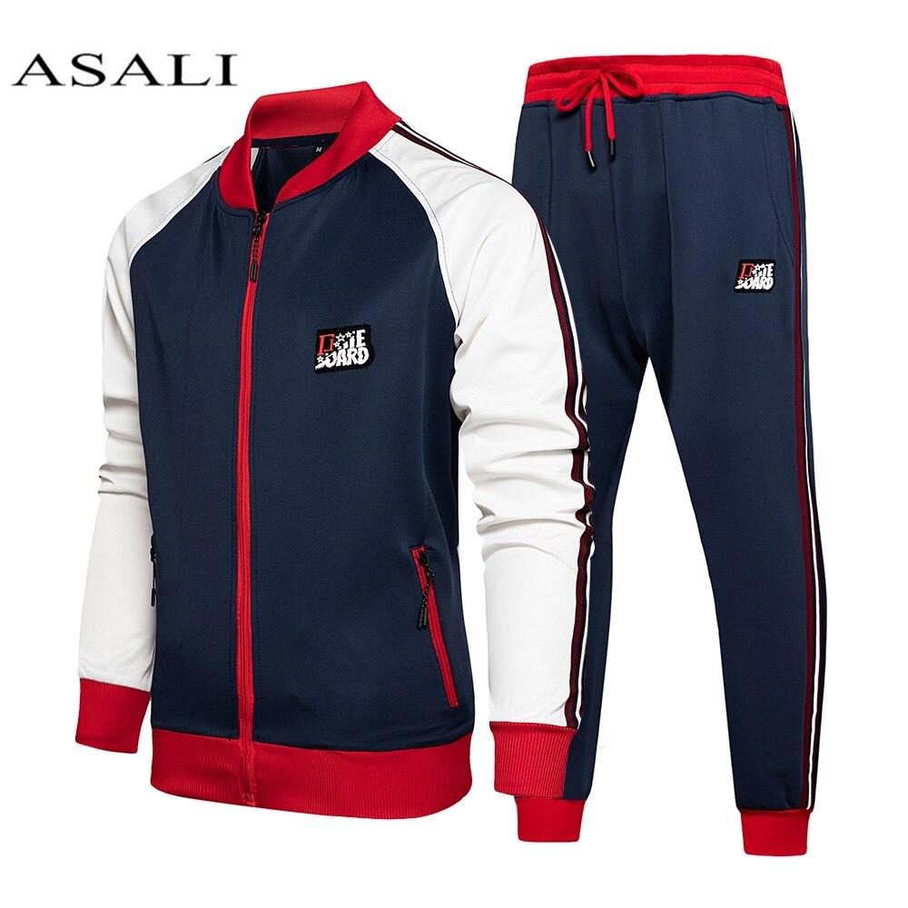 Спортивный костюм Мужской флисовый, повседневная кофта и штаны, спортивный костюм для спортзала, Осень-зима 2020