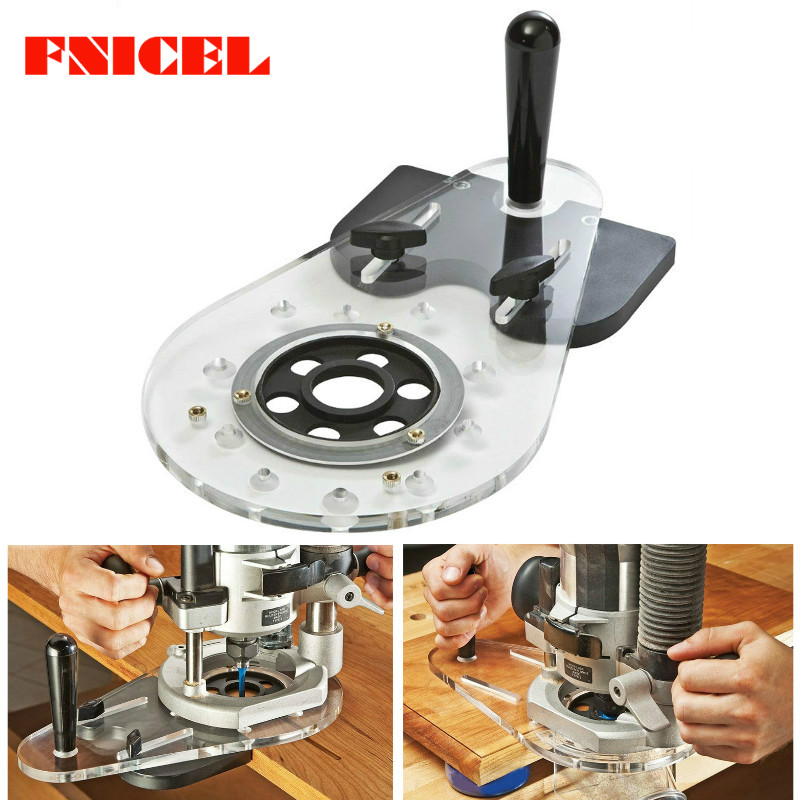Woodworking Hole Punch Locator Circle Cutting Jig for Wood Routers Electric Hand Trimmers Woodworking Milling Circle Groove