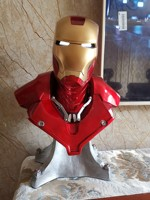 [Funny] 54cm Avengers Iron Man 1:1 MK3 Head bust Portrait With LED Light GK Action Figure statue Collectible Model Toy gift