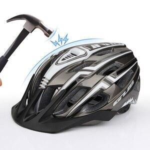 Image 4 - חדש LED אור נטענת יצוק Intergrally רכיבה על קסדת הר כביש אופני קסדת ספורט בטוח כובע לגבר