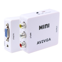 Мини HD видео конвертер коробка AV RCA CVBS к VGA 1080P видео адаптер AV2VGA с 3,5 мм аудио выход для портативных ПК HDTV