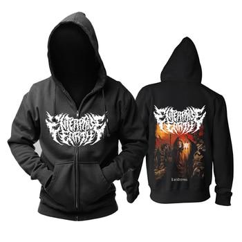 Bloodhoof Enterprise Earth Deathcore Death Metal Long Sleeve Zipper Hoodie Asian Size