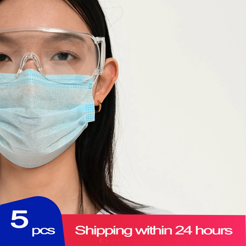 5pcs 3-Layer Mouth Mask Anti Bacterial Disposable Non-woven Mask Filter Against Droplet Unisex Personal Health Care Face Mask