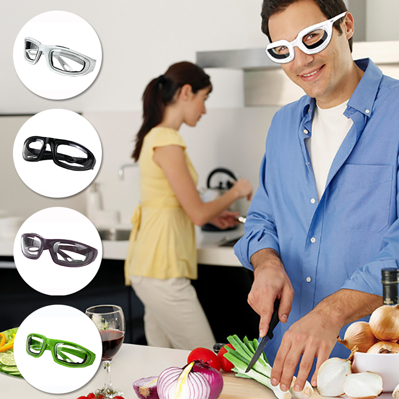 4color Protective Glasses BBQ Anti Glare Kitchen Cutting Cooking Onion Goggle Safety Goggles Resin Cut Onions Durable