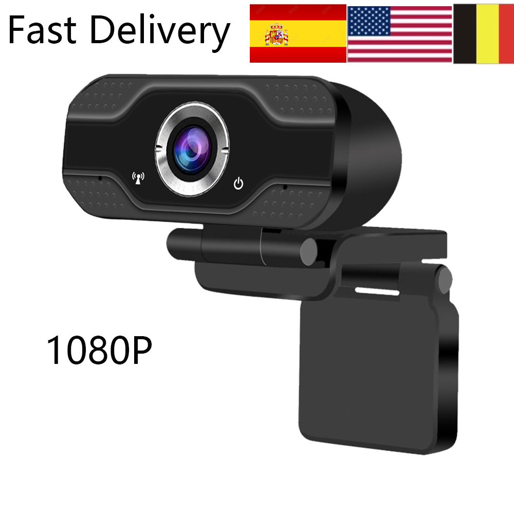 Spain Fast Delivery 1080P HD Webcam -in Microphone Web Camera USB Pro Stream Camera For Desktop Laptops PC  Conference